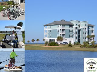 ArthurBeachBay - Waterfront 3BR - Spectacular View - Kayaks Bicycles Golf Cart