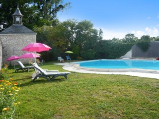 Historic stone mansion in the Pays de la Loire with private pool – sleeps 16