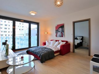 Modern New apartment in centre of Prague, parking, balcony, terrace