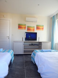 TV with cable in the twin room