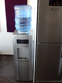 Watercooler for your drinking water replacement is delivered directly to the villa