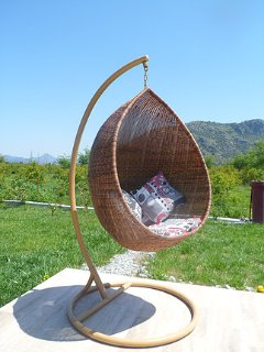Swing chair with a view