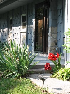 Beautiful wooded landscape entry