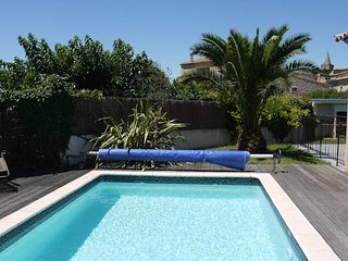 3 bed villa South of France with pool close to coast, sleeps 6