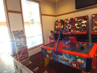 Amusements  in reception building