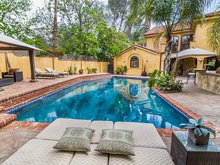Sherman Oaks Mediterranean with Lavish Interior, Large Yard and Pool