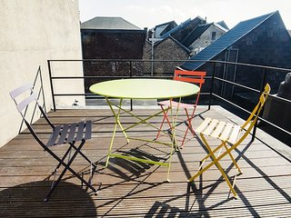 476 m from the center of Liege with Lift, Terrace, Washing machine (624068)