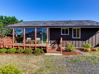 Adorable dog-friendly cottage w/ ocean views, private hot tub, & shared pool
