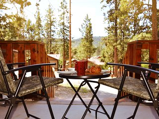 Enjoy the mountain views from the front porch