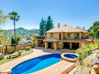 An Iconic Hollywood Hills Spanish Style Jewel Estate with Pool and Hot Tub
