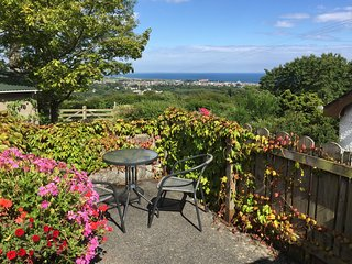 Patio and view across to sea