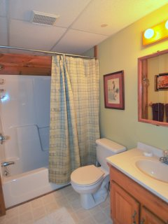 Main Floor Full Bath with Combination Tub/Shower