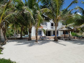 CASA CARACOL-OCEANFRONT VILLA MINUTES FROM TULUM AND AKUMAL IN THE RIVIERA MAYA!