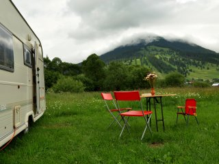 Caravan in Bucovina's Mountains
