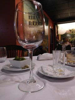 Fine Spanish wines accompany delicious dishes in the nearby restaurants and chiringuitos