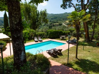 private ggarden and swimming pool