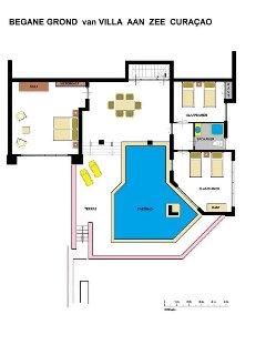 Ground floor with its 3 bedrooms