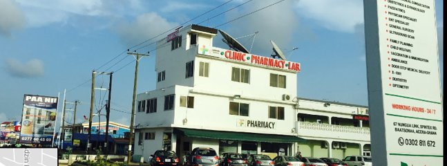 Modern pharmacy and clinic- 10 minutes walk from Villa.