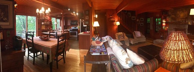 Pano of the Living Room, Dinning Room, Kitchen Area