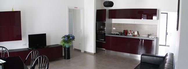 Ampia Sala da pranzo Elegante, con cucina annessa.