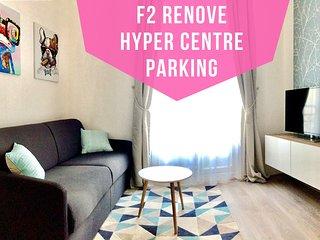Appart Rénové, Hyper centre, Parking couvert a 100m