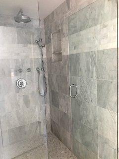 Large master shower.