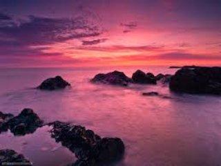 sunset over church bay