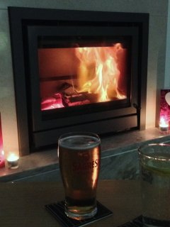 Spend cosy evenings by the log burning fire - ideal for winter rentals