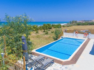 Private pool with terrace area and sea views