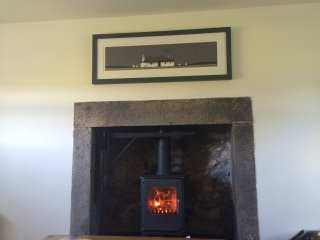 Morso wood burner in lounge