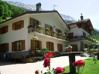 "Holiday in the Italian Alps in the Park ""Gran Paradiso"" near Mont Blanc"