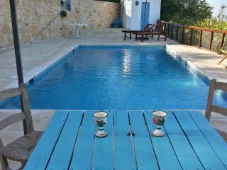 Secluded Restored Farmhouse with Private Pool, 2 Bedrooms and Free Car