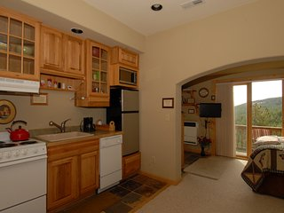 Fully equipped kitchen. Cookware all appliances. Dinner ware and selected condiments.