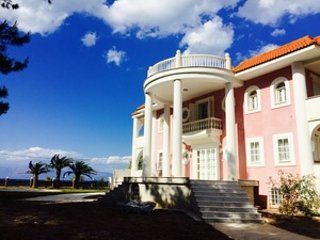 Beachfront Home with Majestic Mountain & Sea Views - 2 hours West of Athens