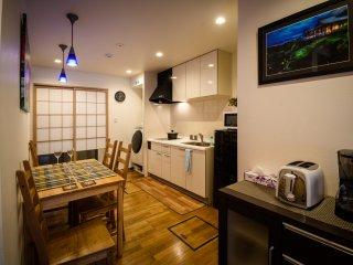 Kitchen with modern amenities so you can eat in. Supermarket is just 3min walk.