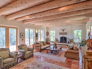 Custom Taos Home on 11 Acres w/ Outdoor Fire Pit!