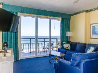 Two spacious oceanfront condos w/shared pools, lazy river, hot tub, views!