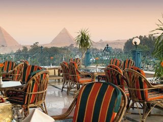 Kheops pyramids view