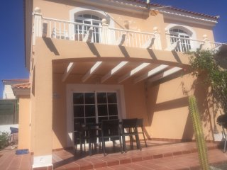 3 bed villa, shared pools, wifi, Sat TV, sea views.