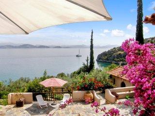 Sea-view villa with private beach