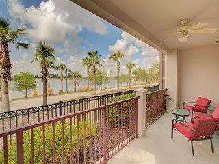 1st floor end unit with amazing lake view next to clubhouse, gym and pool.
