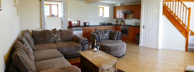 Open plan lounge, dining are & kitchen