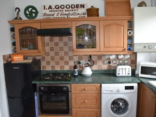 Kitchen fully equipped includes Dishwasher coffee machine and all essentials.