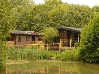Stunning Lakeside Wooden Lodge