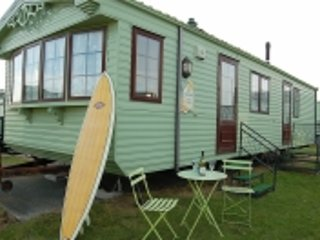 CARAVAN by BEACH in TYWYN