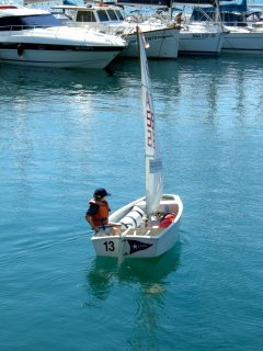 Sailing activities on Lake Garda