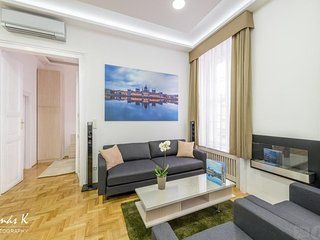 Spacious apartment in the center of Budapest with Lift, Internet, Washing machin