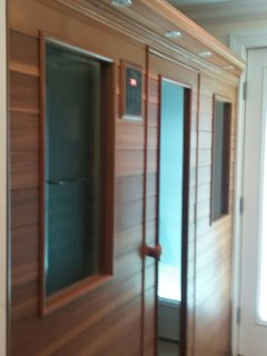 Sauna Room with two showers