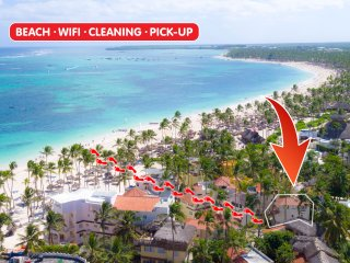 Villa La Perla 2bdr Beach WiFi Cleaning PickUp