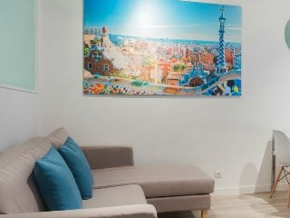 Cozy apartment close to the center of Barcelona with Lift, Air conditioning, Ter